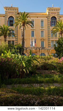 The Grand Hotel Continental which was built between 1894 and 1896 is now a headquarters of Corsica local government in Ajaccio. It has been listed as a historical monument since 1992.