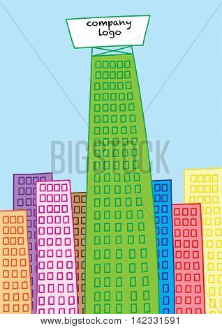 skyscraper building of business giant vector illustration