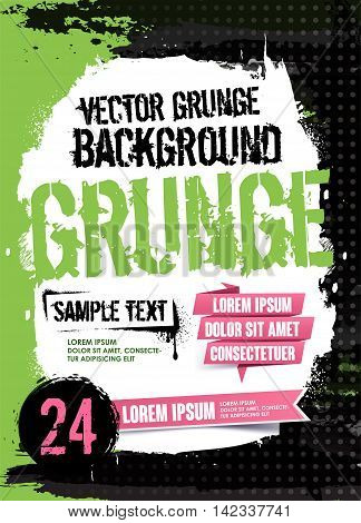 Abstract Modern Background. Grunge Texture. Scratch Texture. Dirty Texture. Wall Background. Vector Illustration. Flyer Templates.