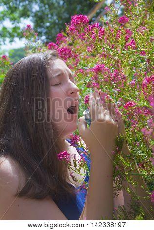 Teenage Girl With Pollen Allergy