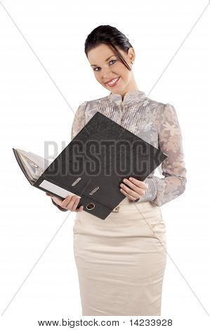 Smiling Office Woman Worker
