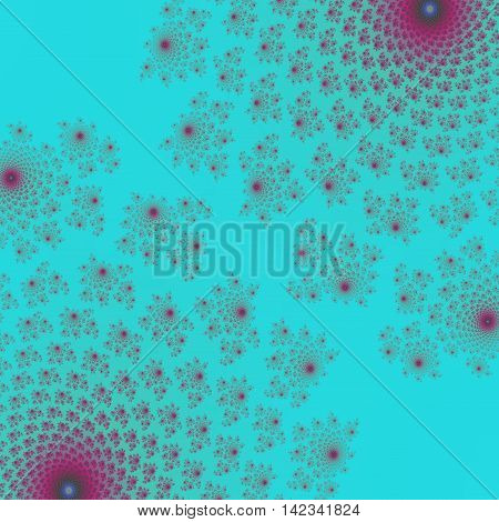 Turquoise ornate unusual floral symmetry symmetrical background