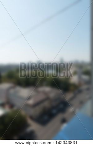 Office building exterior theme creative abstract blur background with bokeh effect