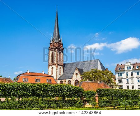 St Elizabeth Church In Darmstadt Hdr