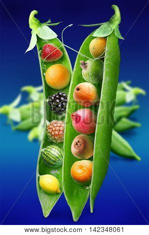 Fruit Art. Juicy and ripe fruit. Natural organic ropical fruits.