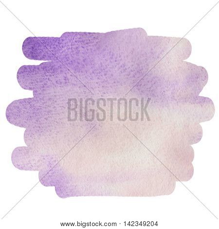 Watercolor purple background for text, texture of watercolor paper