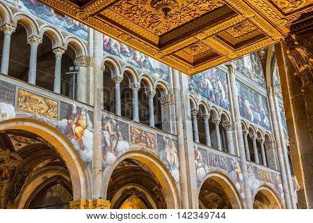 Cathedral Of Santa Maria Assunta Of Parma, In Emilia-romagna. Italy.