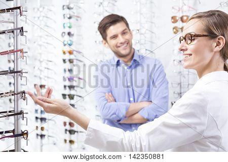 At Optician Store