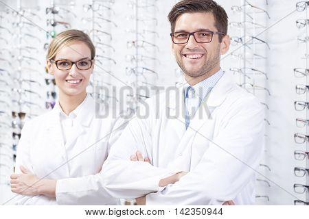 Opticians At Optician Shop