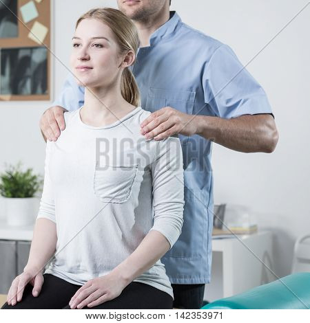 Physical Therapist Helping Patient