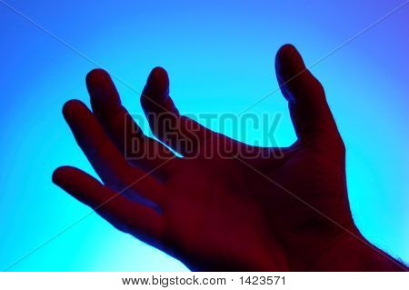 Backlighted Hand - Grabbing Gesture