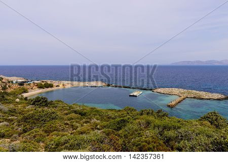 The scenic Bay of Limnionas, Kos island, Dodecanese, Greece.