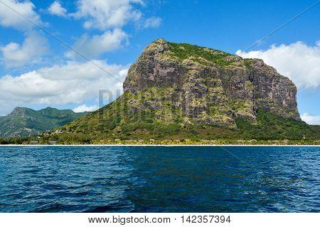Le Morne Brabant mountain landscape, Mauritius island