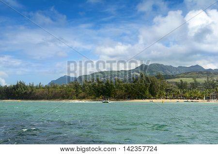 Beautiful coastline of Savanne District in Mauritius