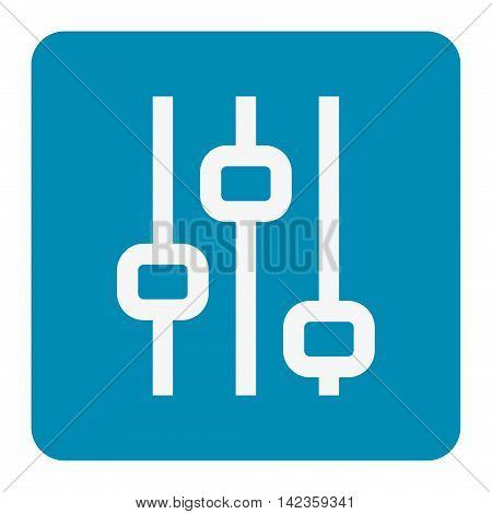 Vertical sliders,  faders, potentiometers. vector illustration symbol