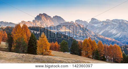 Autumn Landscape With Mountains
