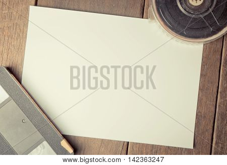 Film Video Movie Blank paper for Title and credit Template