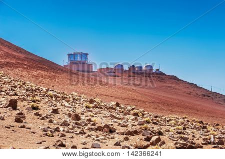 Astrological Observatory On Haleakala Volcano In Hawaii.