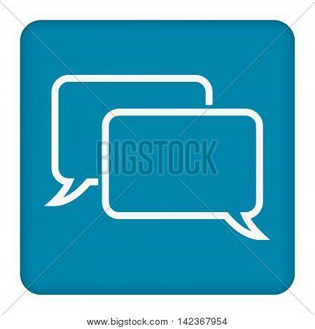 Speech Bubbles Icon. Chat pictogram icon stock vector illustration.