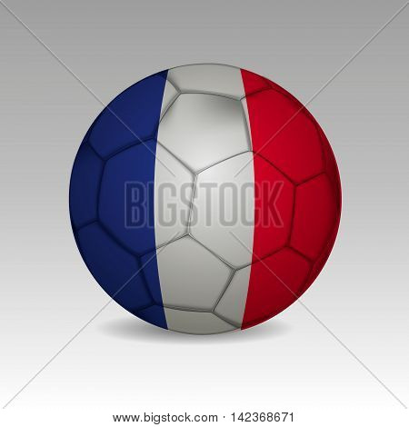 Vector - France Flag with Soccer Ball Background.