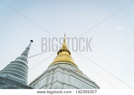 Golden Buddhism Pagoda located in Lampang Thailand
