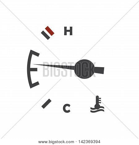 Car engine temperature sensor on the white background. Vector illustration