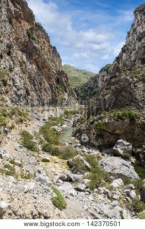 Beautiful landscape of Samaria Gorge. Crete, Greece