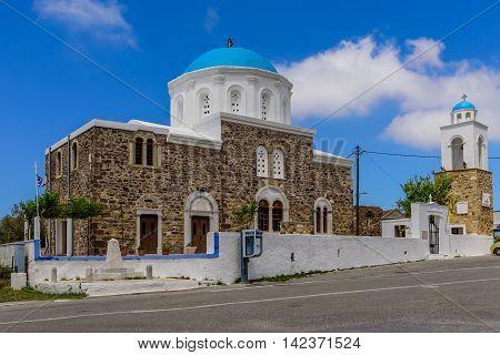 Kos island, Dodecanese, Greece - May 16, 2016: Traditional Greek Church.
