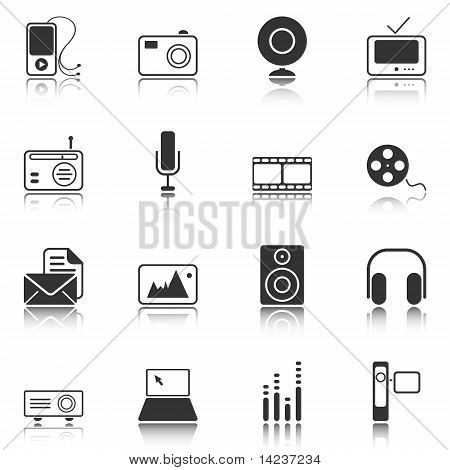 Mass Media Icons - White Series