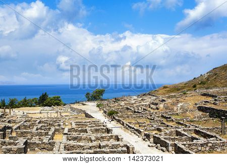 Ruins of Ancient city of Kameiros, Rhodes, Greece