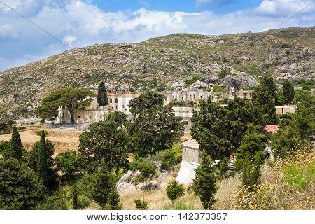 Landscape  of Preveli monastery, Crete island, Greece