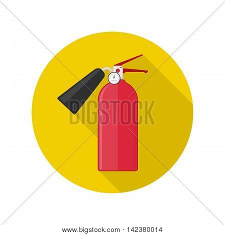 Fire extinguisher vector icon. Design element. Fire-prevention concept.