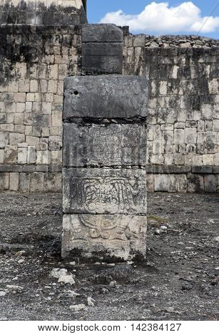 Ancient Temple ruins in Chichen Itza, Mexico