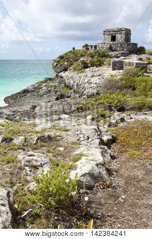 Ancient ruins of Tulum fortress, Yucatan, Mexico.