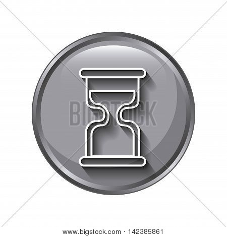 time Hourglass icon design, vector illustration eps10