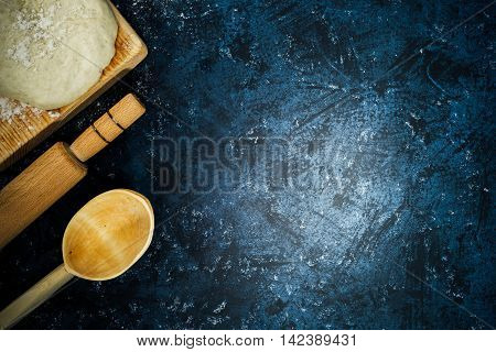 Dough, Rolling Pin And Ladle
