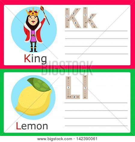 Illustrator of K-L exercise for kid and education
