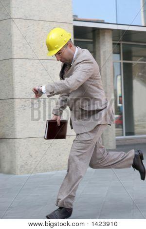 A Businessman Running