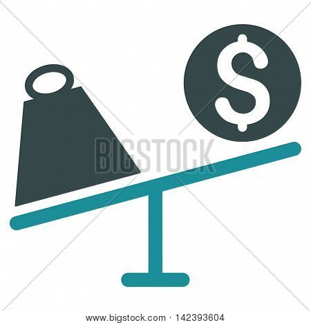 Trade Swing icon. Vector style is bicolor flat iconic symbol with rounded angles, soft blue colors, white background.