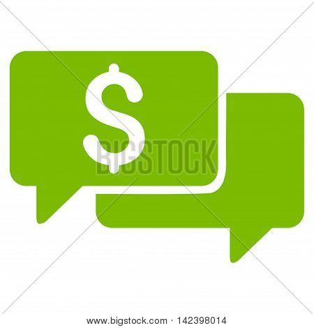Price Bids icon. Vector style is flat iconic symbol with rounded angles, eco green color, white background.