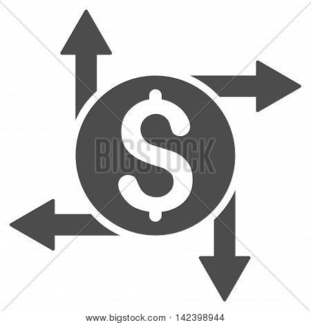 Spend Money icon. Vector style is flat iconic symbol with rounded angles, gray color, white background.