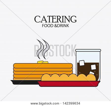 pancakes soda bread catering service menu food icon, Vector illustration
