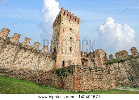 Medieval castle ruins of Este in Italy
