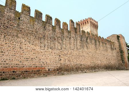 walled castle in the city of Este, Italy