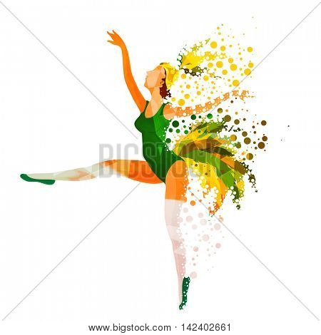 Creative illustration of Samba Dancer on white background, Stylish Poster, Banner or Flyer design for Carnival or Party celebrations.