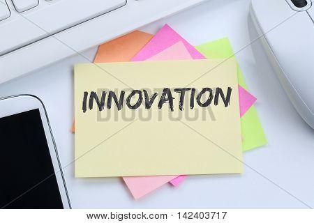 Innovation Idea Leadership Success Successful Winning Business Concept Innovate Creativity Desk