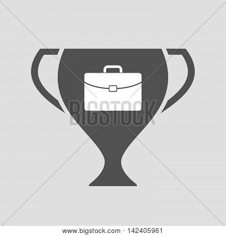 Isolated Award Cup Icon With  A Briefcase
