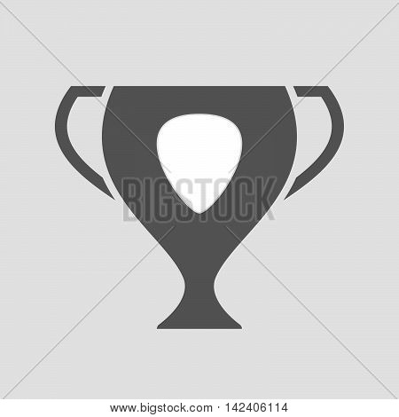 Isolated Award Cup Icon With A Plectrum