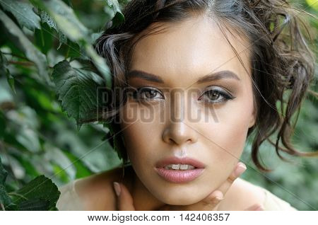 Closeup Portrait Of Chinese Woman