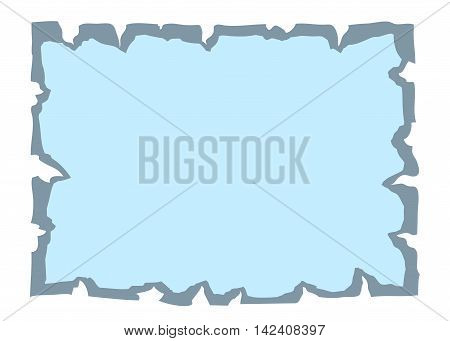 Parchment old paper. Empty cartoon banner for message or letter. Blank document isolated on white background. Retro style. Vintage decorative papyrus. Torn grunge texture sheet. Vector illustration